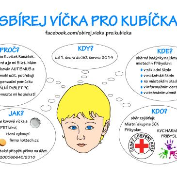 Sbírej víčka pro Kubíčka 1. 2. až 30. 6. 2014