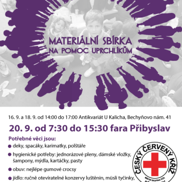 Materiální sbírka na pomoc uprchlíkům 20. 9. 2015