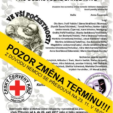 Divadelní představení pro dobrovolné dárce krve 23. 11. 2017